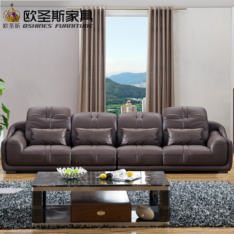 New model modern italy genuine real leather sectional latest corner ...