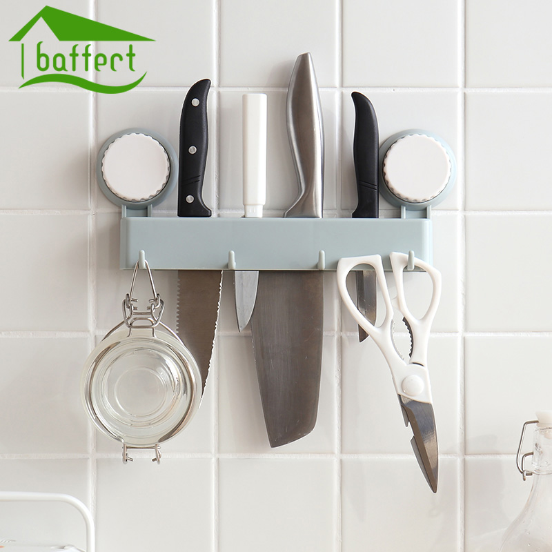 Strong Suction Mini Knife Holder Sucker Shelf For Kitchen Hooks Pub Bar Counter Tool Rest Recycling Use Support 3KG