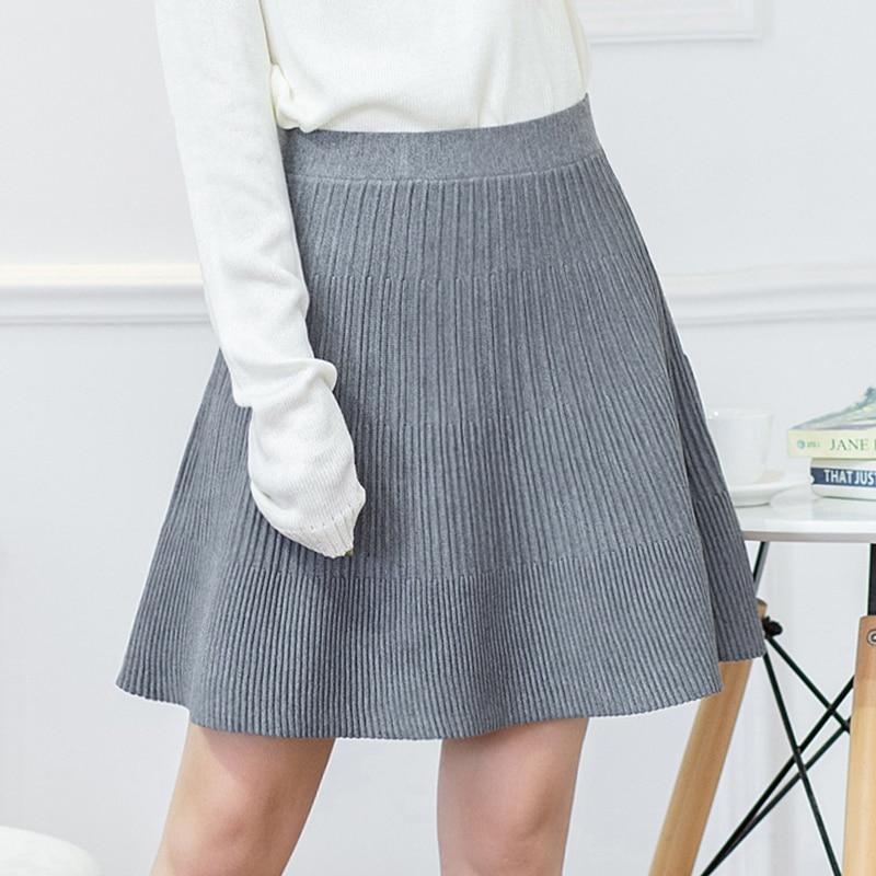 Цветные вязаные юбки