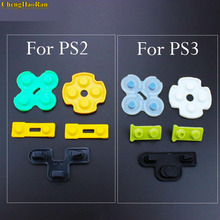 Chenghaئران 100 مجموعات ل بلاي ستيشن 2 PS2 PS3 تحكم إصلاح موصل المطاط سيليكون D وسادة استبدال أجزاء D Pad