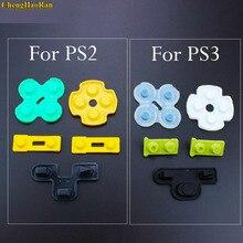 Chenghaoran 100 conjuntos para playstation 2 ps2 ps3 controlador reparação de borracha condutora silicone d pad peças de reposição d pad