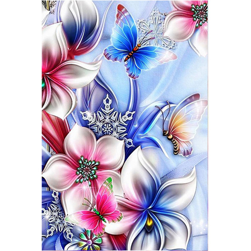 Beautiful flowers and butte diamond Embroidery diy painting mosaic diamant 3d cross stitch picture H432