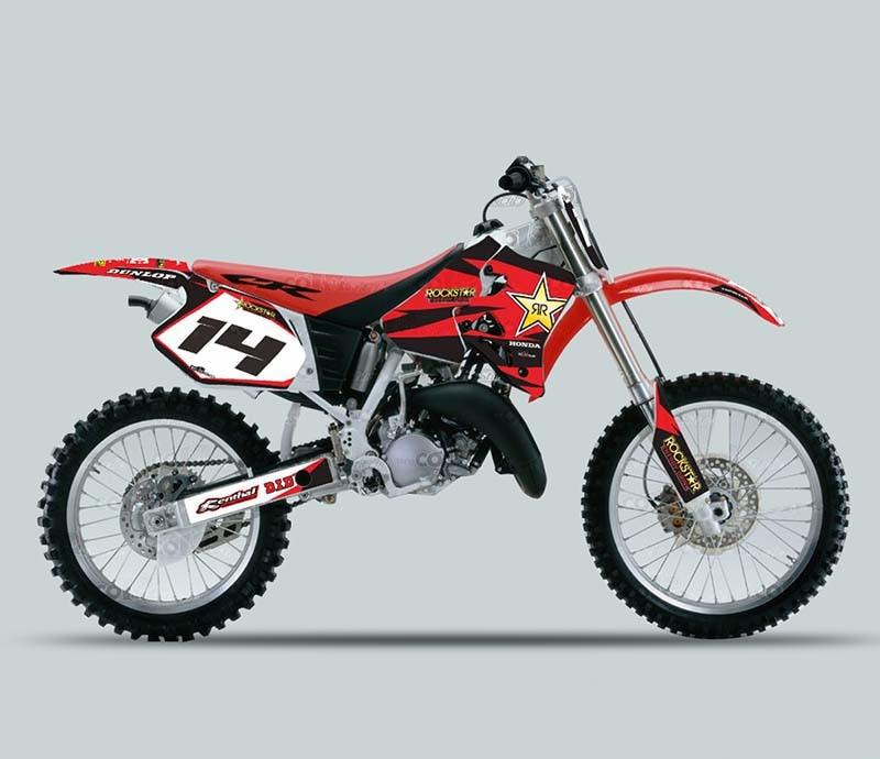 motocicleta motocross 3m pvc stickers decals pegatinas graphics sticker kits for honda cr125. Black Bedroom Furniture Sets. Home Design Ideas