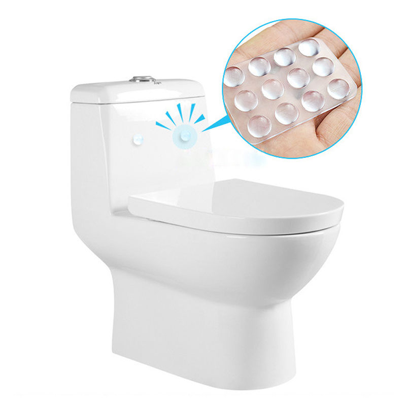 Bathroom Hardware Hard-Working Jetting High Quality 24pcs/set Transparent Anti Slip Silicone Shock Absorber Soft Cushion For Closestool Furniture Accessories