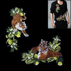 Patchs brodés de tigre de buissons cousent sur le accessoires à créer soi-même d'applique de Motif