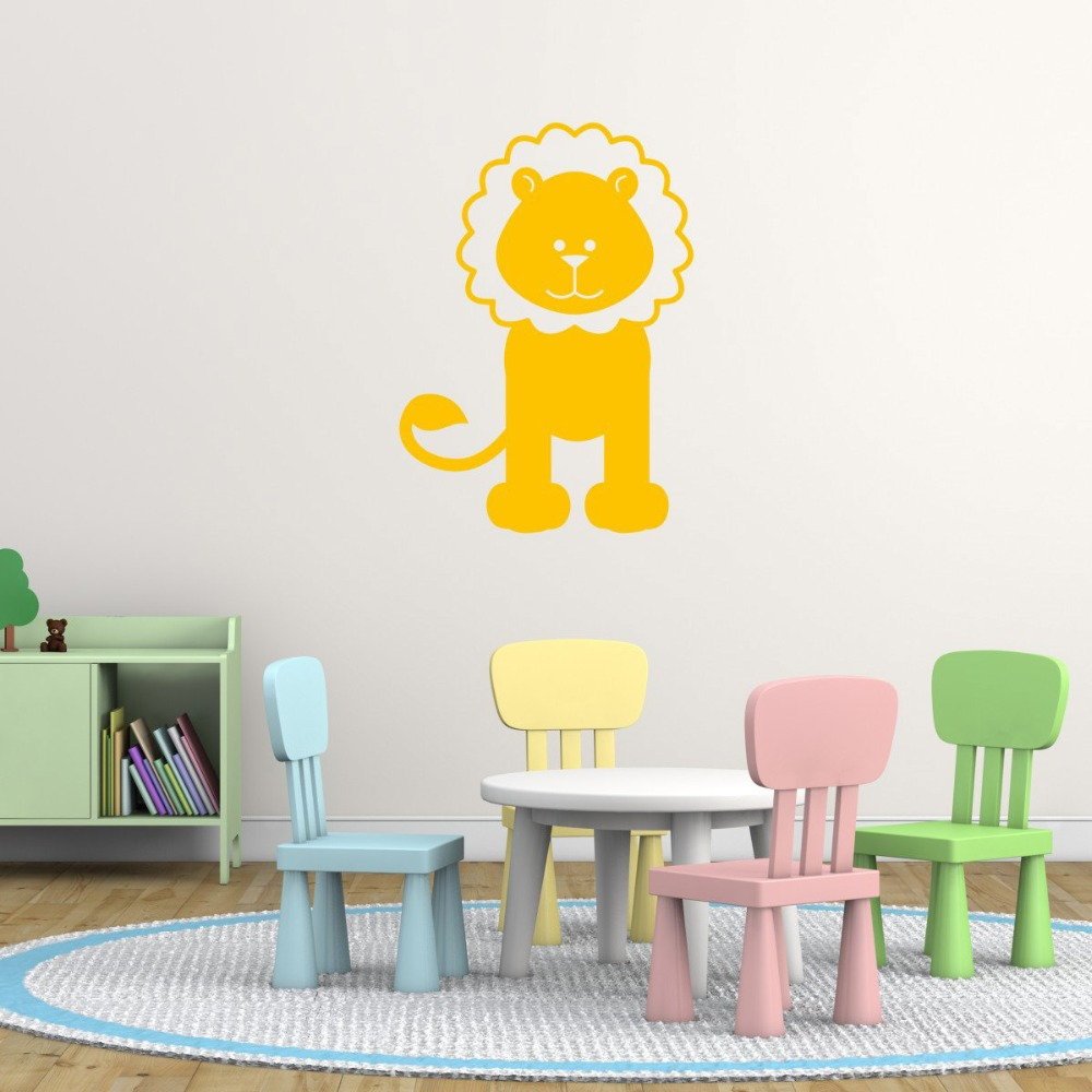 Giraffe Elephant Tiger Lion Monkey and Crocodile Jungle Wall Art ...