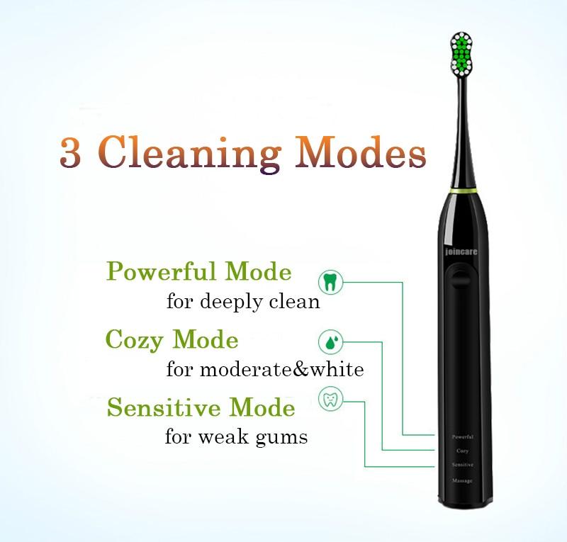 Joincare nuevo cepillo de dientes eléctrico sonic Ultra sonic 3 piezas cepillo  diente reemplazo para sonic son atención Dental hogar 100 v-240 V 35e19d48b5c5