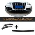 Carbon Fiber Bumper Splitter Frontschürze Lip Zentrum Und Schürze Splitter für Audi A4 B8 Standard Limousine 4 Tür 2009  2012 3 stücke-in Stoßstangen aus Kraftfahrzeuge und Motorräder bei