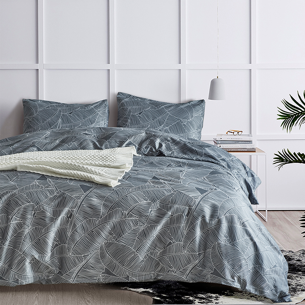 Reactive Printing Geometric Stripes Print Duvet Cover Set USA Twin Queen King Size 2/3 PC Machine Washable Bedding Set