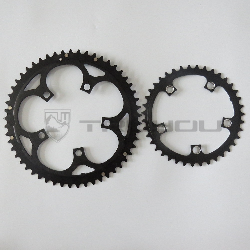 Image 2 - TRUYOU Road Bicycle Chain Wheel BCD 110 53T 39T Double Disc Black Chainwheel Folding Bike Chainring Alloy 2*7/8/9 speed CNC 3/32-in Bicycle Crank & Chainwheel from Sports & Entertainment