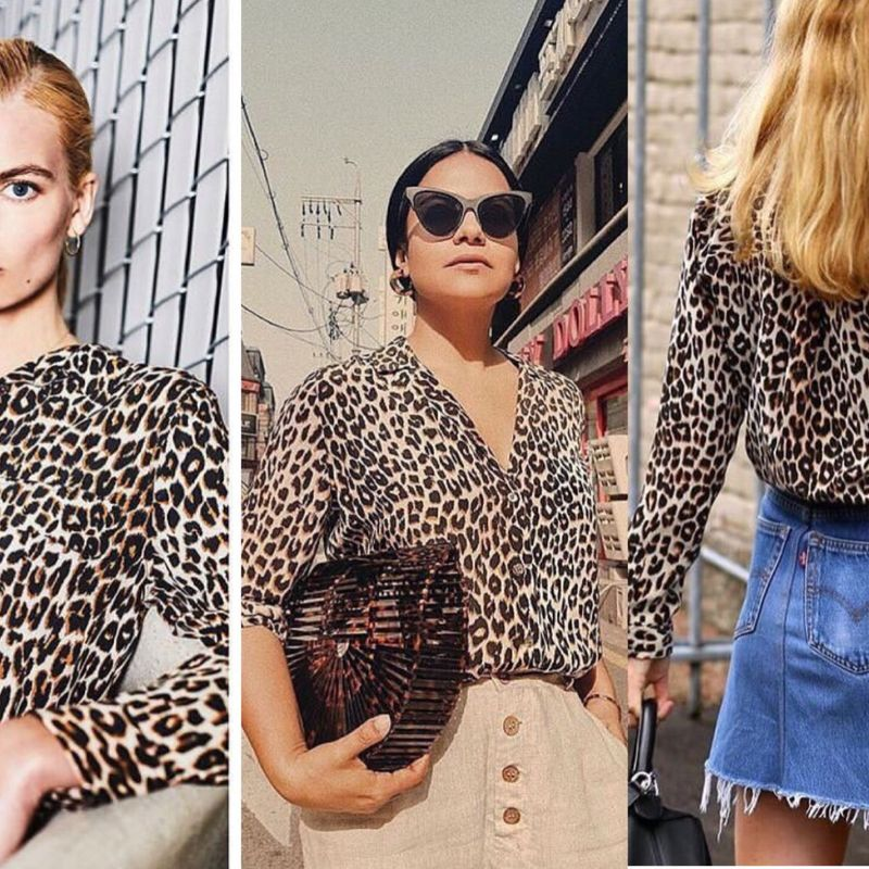 100% Silk Blouse 2019 Leopard Print Women Blouses Long Sleeve Turn Down Collar Shirts Blusas Chemisier Femme Office Casual Tops