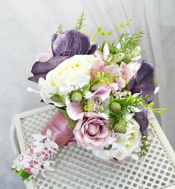 Aliexpress.com : Buy Vintage Style Handmade Wedding Bouquets Floral ...