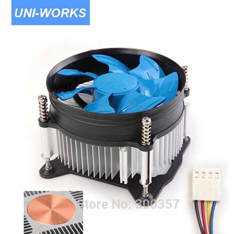Desktop Computer PC CPU Heatsink Cooler Fan copper core 4 Pin for LGA 1150 LGA1156 LGA1155