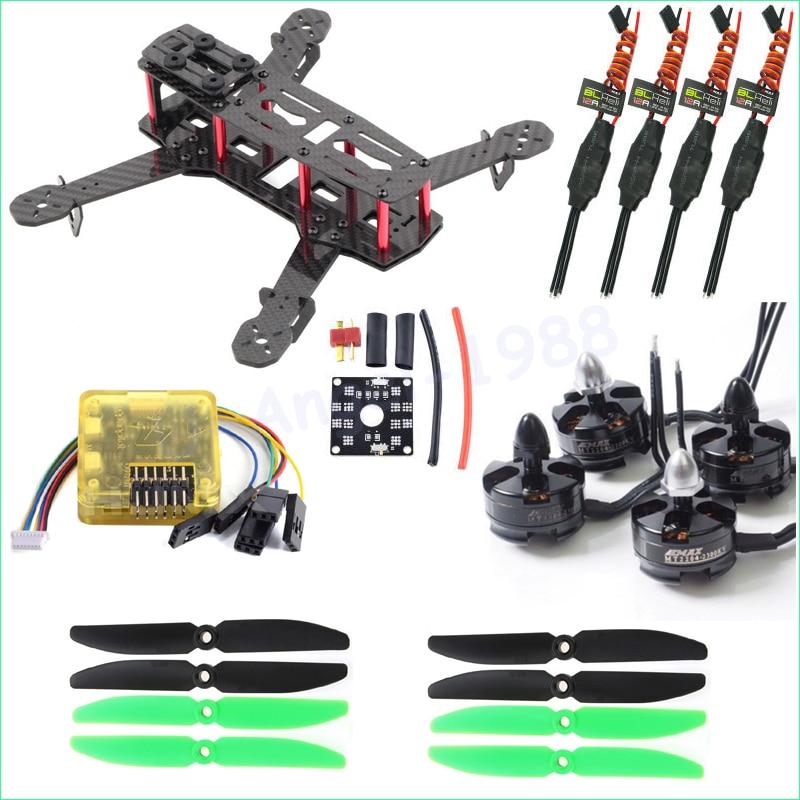 Fibra de carbono ZMR250 C250 Quadcopter & 2204 2300kv Motor & Emax 12A Esc BLHeli & CC3D Controlador de Vôo de EVO 5030 Prop para QAV250