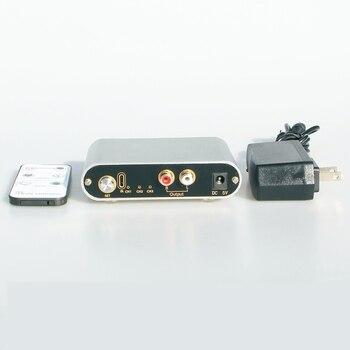 Selector de señal de entrada de Audio RCA de dos vías 1 A 3/3 a 1, conmutador de fuente de interruptor remoto para amplificador