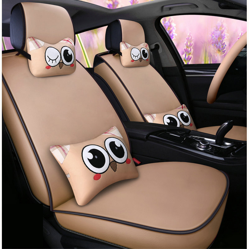Automobiles Seat Covers Rational Pu Leather Cartoon Car Seat Cover Auto Seats Covers For Toyota 4 Runner 86 Alphard Altis Avalon Camry Celica Ch-r Corolla Corona Strong Resistance To Heat And Hard Wearing
