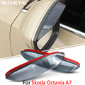 For Skoda Octavia A7 2013 2014 2015 Car Rearview Mirror Eyebrow Covers Rainproof Flexible Protection Decoration Accessories