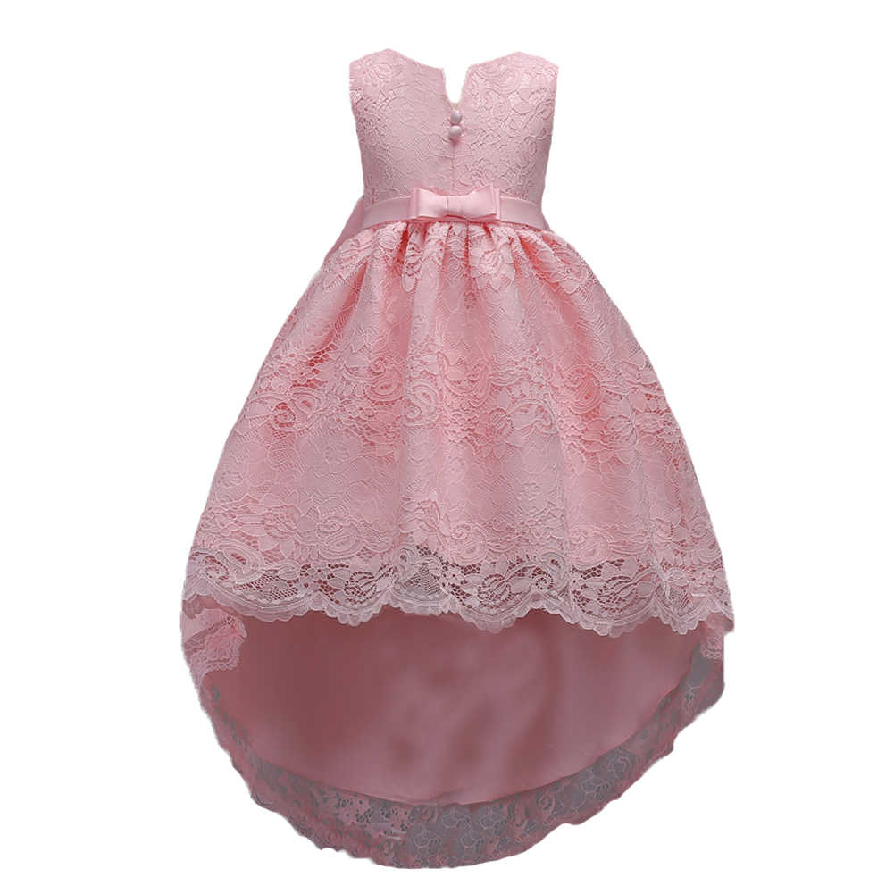 464edd3a83 2-14 Years Girls Birthday Party Christmas Dress for Little Girl Teenager  Short In Front Long In Back Prom Dresses for Kids