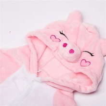 Pig Cartoon Costume Fancy Fanny Soft Carnival Animal Cosplay for Girl Child Kigurumi Onesie Suit Jumpsuit Set Girl Boy with Shoe