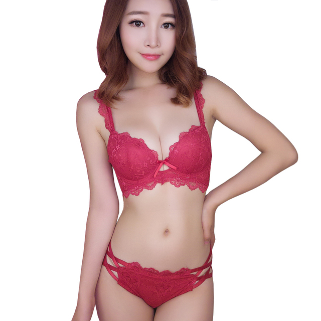 fafb08ea241 Sexy Junior Tops Intimates Lingerie Bra Set Transparent Cotton Triangle  Lace Push Up Bra Underwear Women Bra And Panties Sets