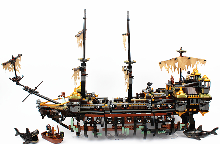 Bela 10680 Movie The Silent Mary Model Building Block Bricks Toys Compatible with Legoings Pirates of the Caribbean 71042 new lepin 16009 1151pcs queen anne s revenge pirates of the caribbean building blocks set compatible legoed with 4195 children