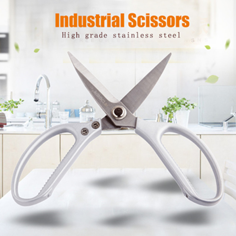 RDEER Industrial Scissors Stainless Steel Leather/Fishing Nets/Fabric/Craft Sewing Scissors Multifunctional Pruning Tools