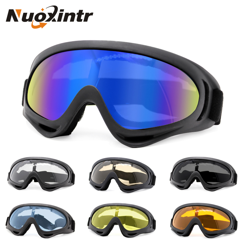 Nuoxintr Motorcycle Goggles Outdoor Sports HD Ski Cycling Goggles Men's and Women's Ski Helmets Companion Sunglasses