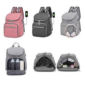 Image 2 - 防水ミイラおむつバッグファッションおむつバッグ大容量ベビーケア看護バッグ母多機能バックパック