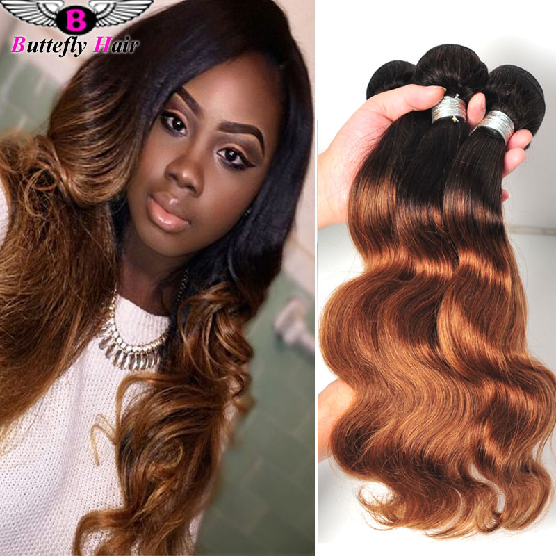 Longqi Hair Brazilian Body Wave Ombre Wet And Wavy