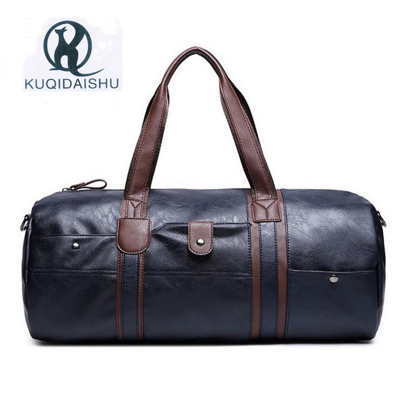 High Quality Handbag Large Capacity Bag for Men 2017 Vintage Mens Leather Travel Bags PU Leather Weekend Hand Bag Black B free shipping high quality ink cartridge compatible for hp835 836 ip1188 large capacity