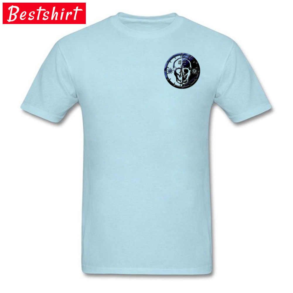 Gothique crâne vide Clan emblème Linux hauts et t-shirts prévalant court hommes t-shirts personnalisés personnalisés hauts T-Shirt