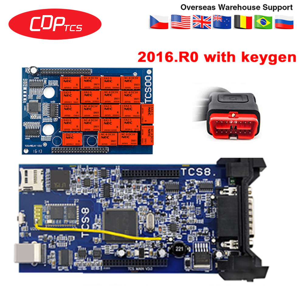 cdp tcs 2016.R0 keygen bluetooth CDP for cars trucks obd2 diagnostic tool