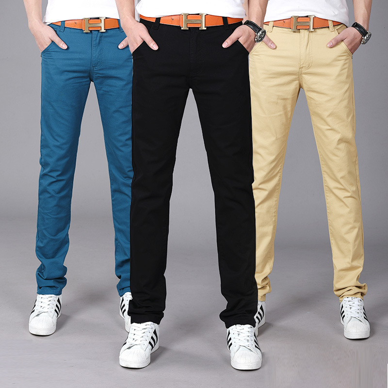 2018 Spring Winter New Fashion Business 2018 Slim Straight Men Casual Pants 9 Colors Pure Cotton Man Trousers Plus Size 28-38
