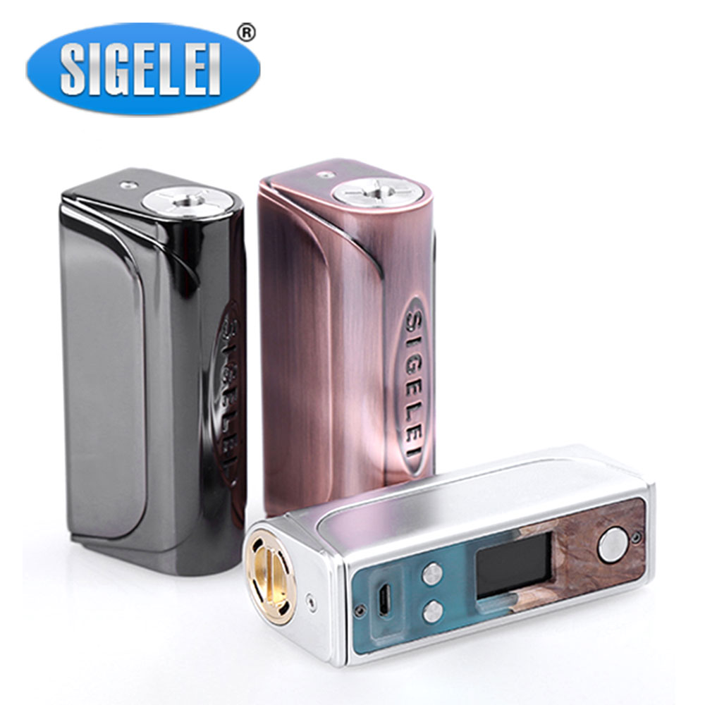 Original Sigelei Evaya 66W Stabilized Wood TC Box MOD Max 66W Output No 1850 Battery Box Mod Vape Mod Electronic Cigarette clearance original 60w digiflavor df 60 tc mod with 1700mah built in battery max 60w output electronic cigarette vape box mod