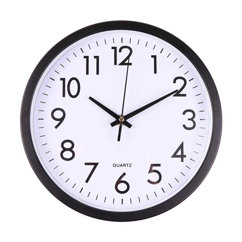 Large Vintage Round Modern Home Bedroom Retro Time Wall Clock Silent Sweep Modern Graceful Desk Creative Simple Digital Clock