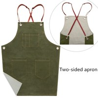 New fashion cotton canvas apron for the kitchen unisex Coffee shop work aprons Salon bartender delantal cocina cooking pinafore