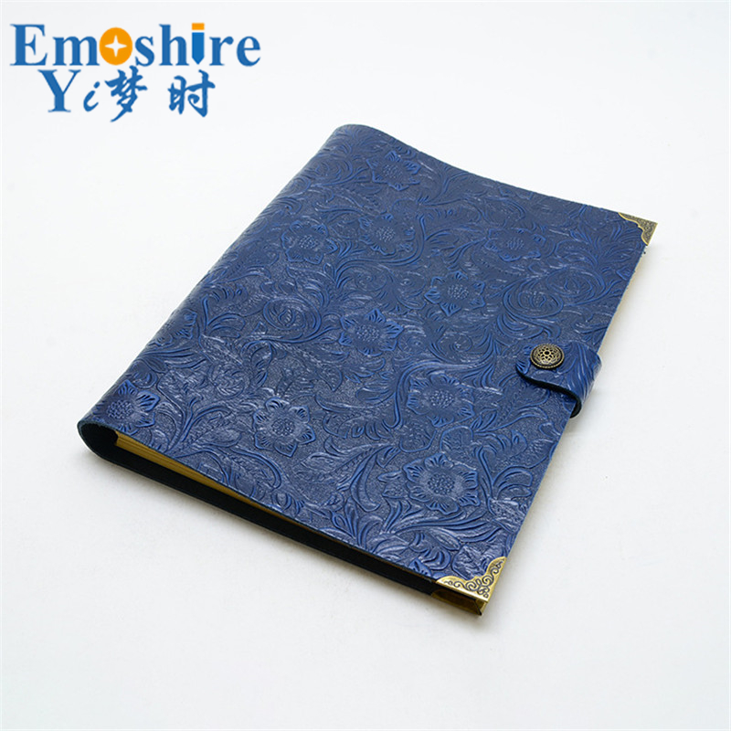Cuoio Genuino dell'annata Notebook Travel Diary Journal Planner Sketchbook Agenda Ricarica FAI DA TE di Carta Scuola Regalo Di Compleanno N125 - 2