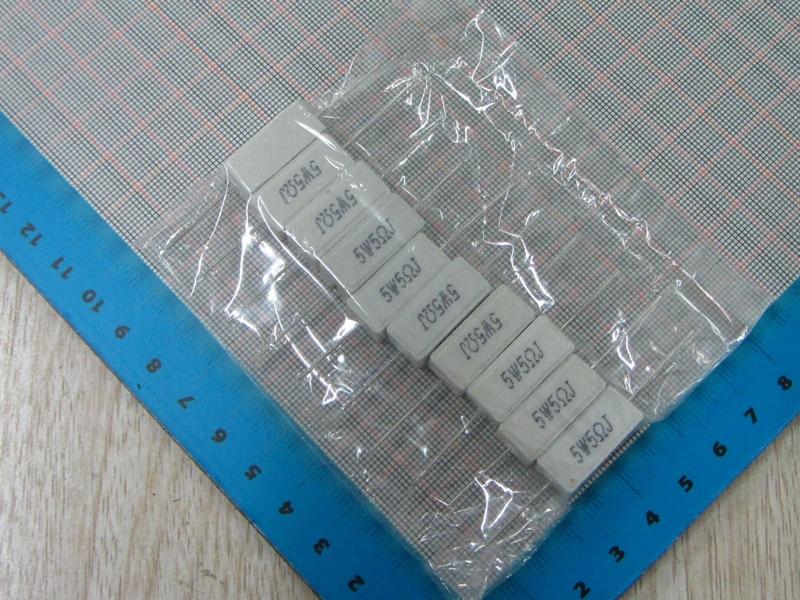 Free Shipping 10pcs 5R 5W Cement resistance 5W 5Ohm 5% 5R Cement resistance