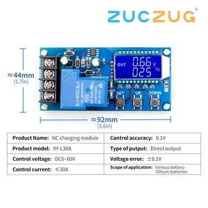 Image 2 - 6 60v 30A 10A Lead acid Solar Battery Charge Controller Protection Board charger Time switch 12v 24v 36v 48v battery capacity