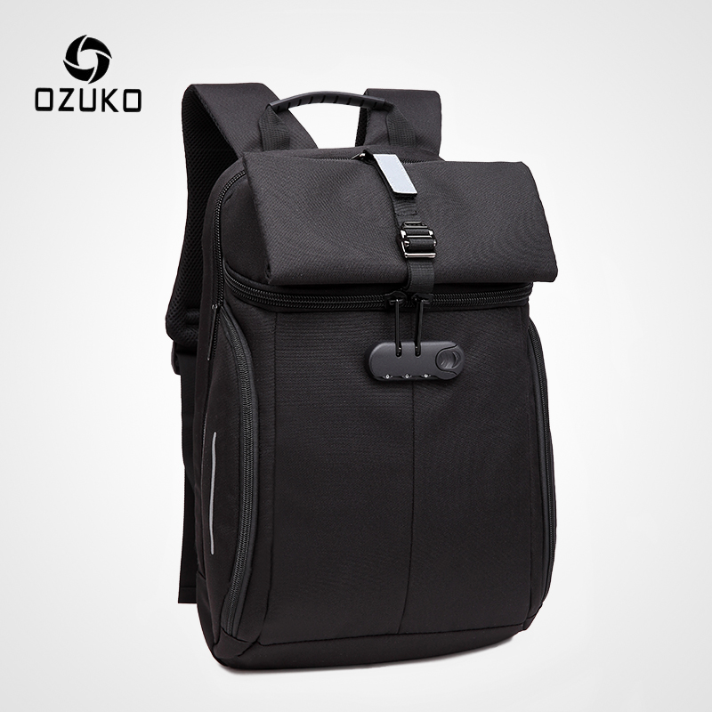 OZUKO Fashion Men Anti-theft Backpack 15.6