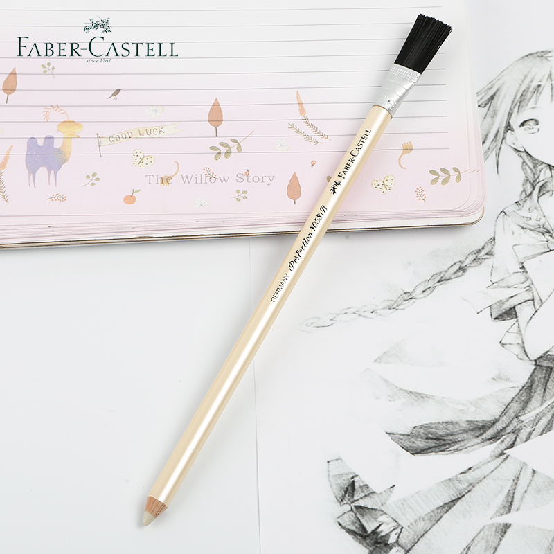 2 Pcs Faber Castell 7058-B Pencil Eraser+Brush Drawing Stationery School Office Supplies Pencil Eraser Ballpoint Gel Pen Erasers