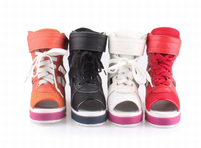 Cada Transpirable Zapatos De Punta Encaje Las Casual Nuevas Abierta Mujeres red Orange La Sandalias Malla Verano Altura black Moda white Plataforma Cómodo Vez Más Uaaq0Exp