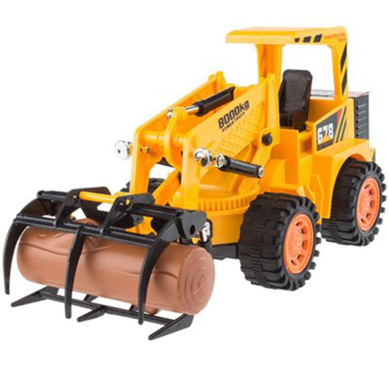 New Wired Control Grab Log Truck timber grab Truck 4 wheel Log Fork Truck Engineering truck Model electronic toys
