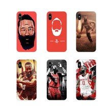 For Samsung Galaxy S4 S5 MINI S6 S7 edge S8 S9 S10 Plus Note 3 4 5 8 9 Transparent Soft Shell Cover James Harden Basketball Fans(China)