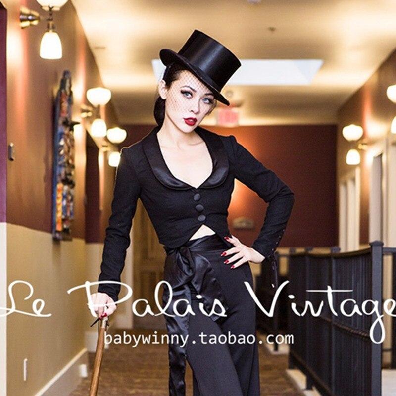 Palais Élégante Black 40 S Noir Manga Plus Veste Pin Laine Feminino Bandage Taille Blazer up Manteau Court 50 le Cru Mujer Longa Fwpw1q54