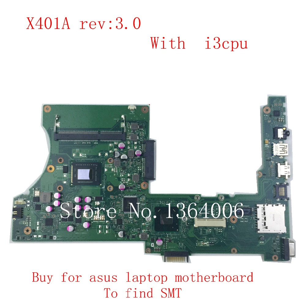 X401A REV:3.0 Mainboard For ASUS X501A X401A X301A  with  I3 CPU Laptop Motherboard tested Ok and Top quality Free shipping tammie j kaufman conrad lashley lisa ann schreier timeshare management volume 16 the key issues for hospitality managers hospitality leisure and tourism