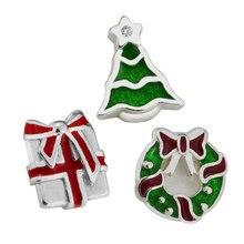 Médaillon flottant adapté pour collier pendentif arbre cadeau couronne petits paquets en 3 parties 100% argent Sterling 925 livraison gratuite