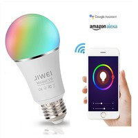E27 WIFI Smart Bulb RGBW WIFI Bulb Dimmable LED Light Bulb Works with Alexa Google Home16 Million Colours APP Remote Control