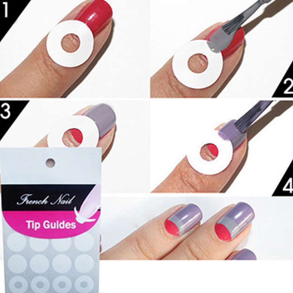 New Wholesale High Quality DIY 5 pcs/ lot French Nail Art Tips Tape ...