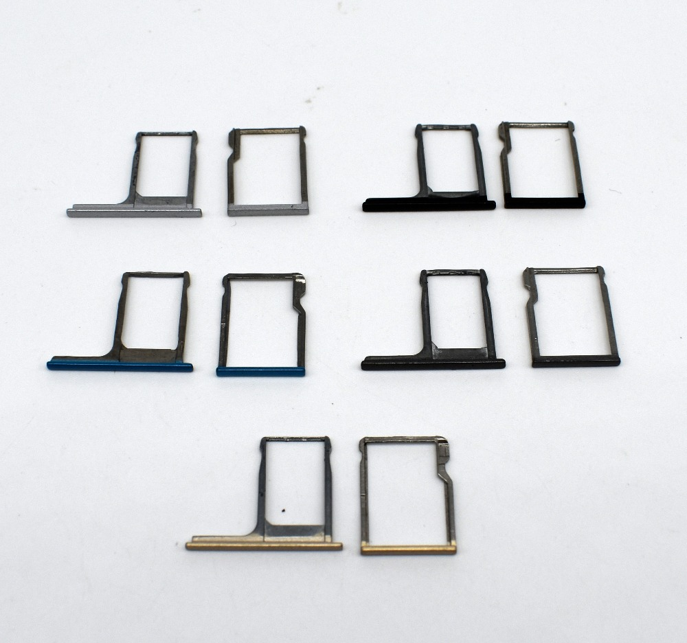 1set=2pcs For HTC One M8 High Quality Nano Sim Card Tray + Micro SD Memory Card Tray Holder SD&Sim Card tray Replacement Parts